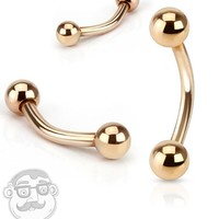 Rose Gold Curved Barbell Eyebrow Ring