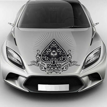 playing cards car hood decal Pike Car Decals Pike Car Truck playing cards Side Body Graphics Decal Sticker for car kikcar78