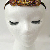 Art deco geometric headband from Shoreland Chic! www.shorelandchic.etsy.com