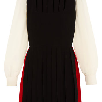 Pleated cutout silk crepe de chine dress | Sonia Rykiel | US | THE OUTNET