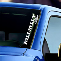 Hillbilly Edition Windshield Banner Vinyl Decal Sticker Decal For Ford F150 Jeep