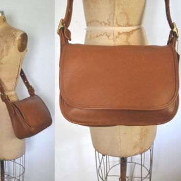 Brown COACH Messenger Satchel Bag / British Tan Leather