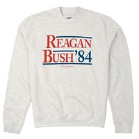 Reagan Bush '84 Crewneck Sweatshirt in Light Grey by Rowdy Gentleman - FINAL SALE