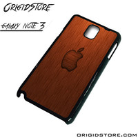 Wood Apple Texture Case For Samsung Galaxy Note 3 Case