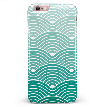 Beach Hotel Wallpaper Waves iPhone 6/6s or 6/6s Plus INK-Fuzed Case