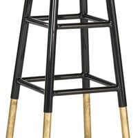 Emery Dipped Gold Leaf Counterstool Black / Gold