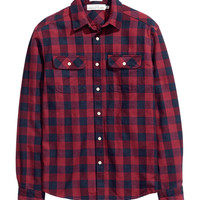Checked Twill Shirt - from H&M
