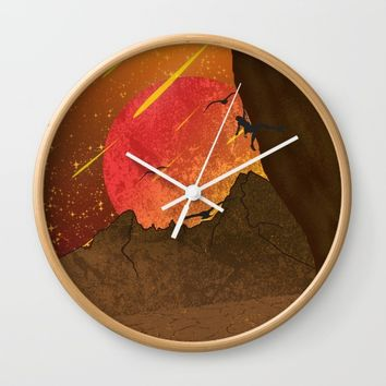 When The Red Moon Appears Wall Clock by Berwies