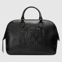 Gucci Embossed leather duffle