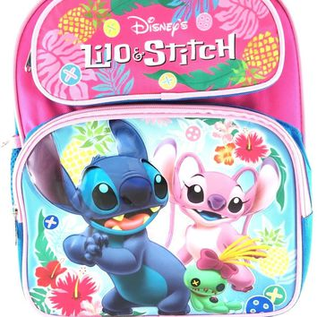 "Licensed New Disney Lilo and Stitch 12"" Girls/Boys Large School Backpack"