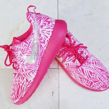 Girls Nike Roshe - Girls shoes, Womens nikes, Girls clothes, Blinged out nikes, Blinge