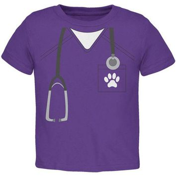 PEAPGQ9 Halloween Vet Veterinarian Scrubs Costume Toddler T Shirt