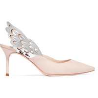 Sophia Webster - Angelo cutout metallic-trimmed leather slingback pumps