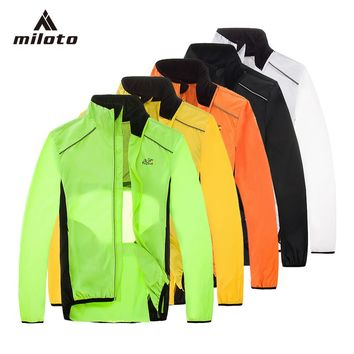 MILOTO Tour de France Breathable Cycling Rain Coat Jacket Bicycle Riding Wear Clothes Bike Windbreaker Reflective Jersey S-XXXL