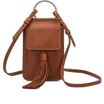 Dory Tassel Cross Body - Tan
