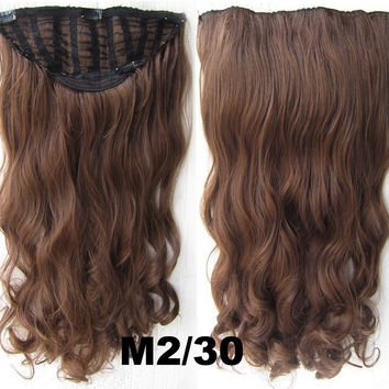 Bath & Beauty 7 Clip in Elastic Cap Wig Curly hair synthetic hair extension hairpieces wavy slice curly hairpiece SCH-888 M2/30,Hair Care,fashion Cosplay ombre 1PCS