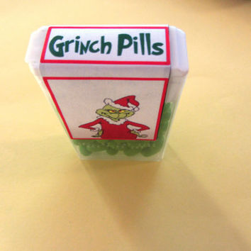 CHRISTMAS GRINCH PILLS, Tic Tacs,favor,candy