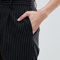 Daisy Street Peg Pants In Pin Stripe at asos.com