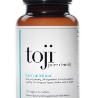 Toji Pure Density: Hair Nutrition 30 Day Supply | Vegetarian Hair Vitamin Supplement | 34 Ingredients - Biotin, DHT Blocker, Horsetail, Eclipta Alba & More | Supports Healthy Hair to Grow Faster, Thicker, and Stronger*:Amazon:Beauty