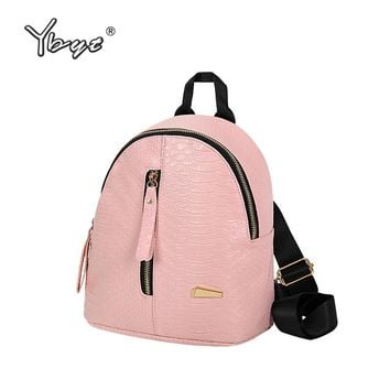 YBYT brand 2018 new vintage casual alligator women small rucksack kawaii preppy style girl schoolbag student school backpacks