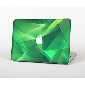 """The Shiny Vector Green Crystals Skin Set for the Apple MacBook Pro 13"""" with Retina Display"""