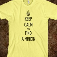 Despicable Me T-shirt Keep calm and find a minion