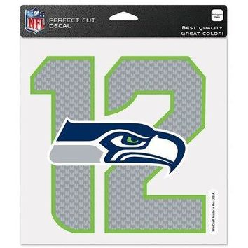 "SEATTLE SEAHAWKS 12TH MAN LOGO 8""X8"" COLOR DIE CUT DECAL BRAND NEW WINCRAFT"