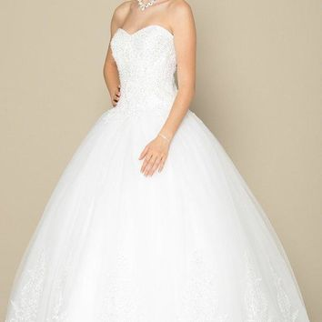 Affordable ball gown wedding dress jul#376