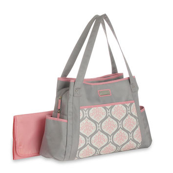 Graco Francesca Diaper Bag- Pink/Gray