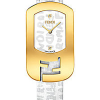 Fendi - Chameleon Graffiti Goldtone Stainless Steel & Leather Strap Watch/White - Saks Fifth Avenue Mobile