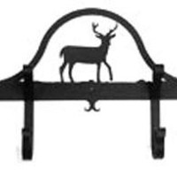 Wrought Iron Hat & Coat Rack - Towel Rack Deer