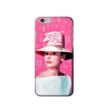 P2737 Audrey Hepburn Pink Vintage Paris Phone Case For IPHONE 6S