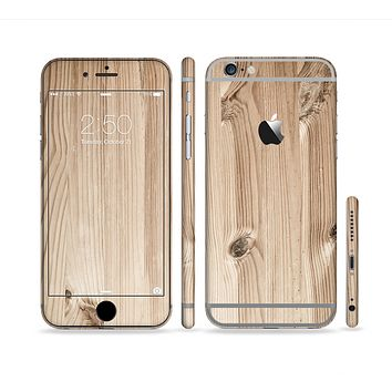 The LIght-Grained Wood Sectioned Skin Series for the Apple iPhone 6s Plus