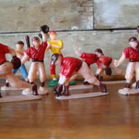 Vintage Retro Baseball Players Cake Toppers From The 1950s  Plastic Lot 10