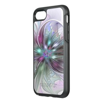 Colorful Fantasy, abstract and modern Fractal Art OtterBox Symmetry iPhone 7 Case