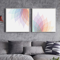 Modern Simple Abstract Transparent Leaf Shape Lines A4 Canvas Art Print Poster Living Room Bedroom Image Wall Decoration OT018