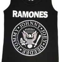 Ramones shirts Party Rock Band T Shirt Print Tank Top Singlets Tee Shirts Women