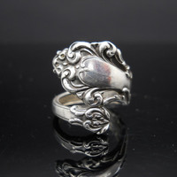Spoon Ring Sterling Silver Size 5 Adjustable Band Reed and Barton 925