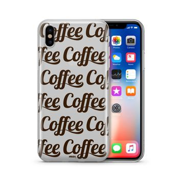 Coffee Coffee Coffee - Clear Case Cover