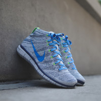 NIKE Free Flyknit Chukka - Wolf Grey / Photo Blue