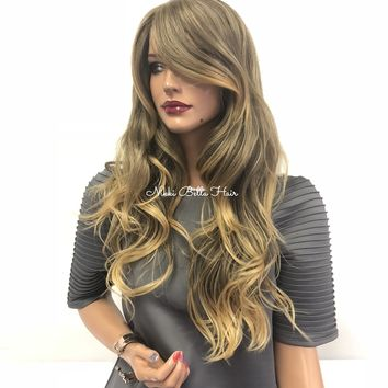 Blond Skin Top Swiss Lace Front wig 18"