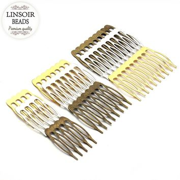 10pcs/lot 5/8/10 Teeth Metal Hair Comb Hair Clips Claw Hairpins DIY Jewelry Findings & Components Wedding Hair Jewelry F1810