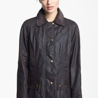 Women's Barbour 'Beadnell' Waxed Cotton Jacket