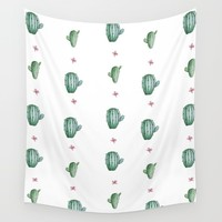 Cactus  Wall Tapestry by Ashley Hillman
