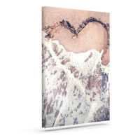 "Nastasia Cook ""Heart in the Sand"" Beach Outdoor Canvas Wall Art"