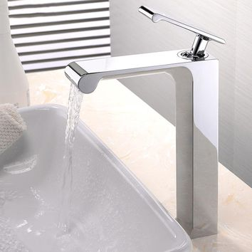 Waterfall Unique Design Single Handle Faucet Deck Mounted