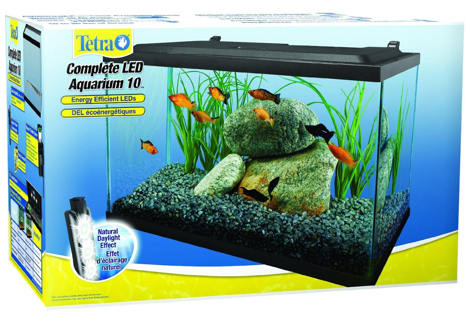 Tetra deluxe led aquarium fish tank kit from gotpetsupplies for 20 gallon fish tank kit