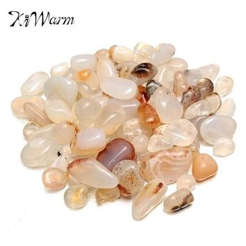 50g Natural Gravel Agate Quartz Crystal Stone Rock Specimen Healing Gem Planting Aquarium Fish Tank Materials Decor Stone Crafts