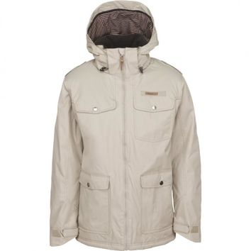 O'Neill Men's ADV Beige Hooded Winter Waterproof Snowboard Ski Jacket Coat Large