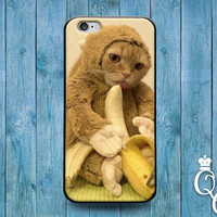 iPhone 4 4s 5 5s 5c 6 6s plus iPod Touch 4th 5th 6th Generation Cool Cat Monkey Suit Banana Custom Phone Cover Funny Cute Animal Food Case
